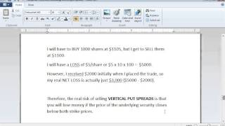 Put Options Lesson 12: How I Made 30% With a Bull Put Spread