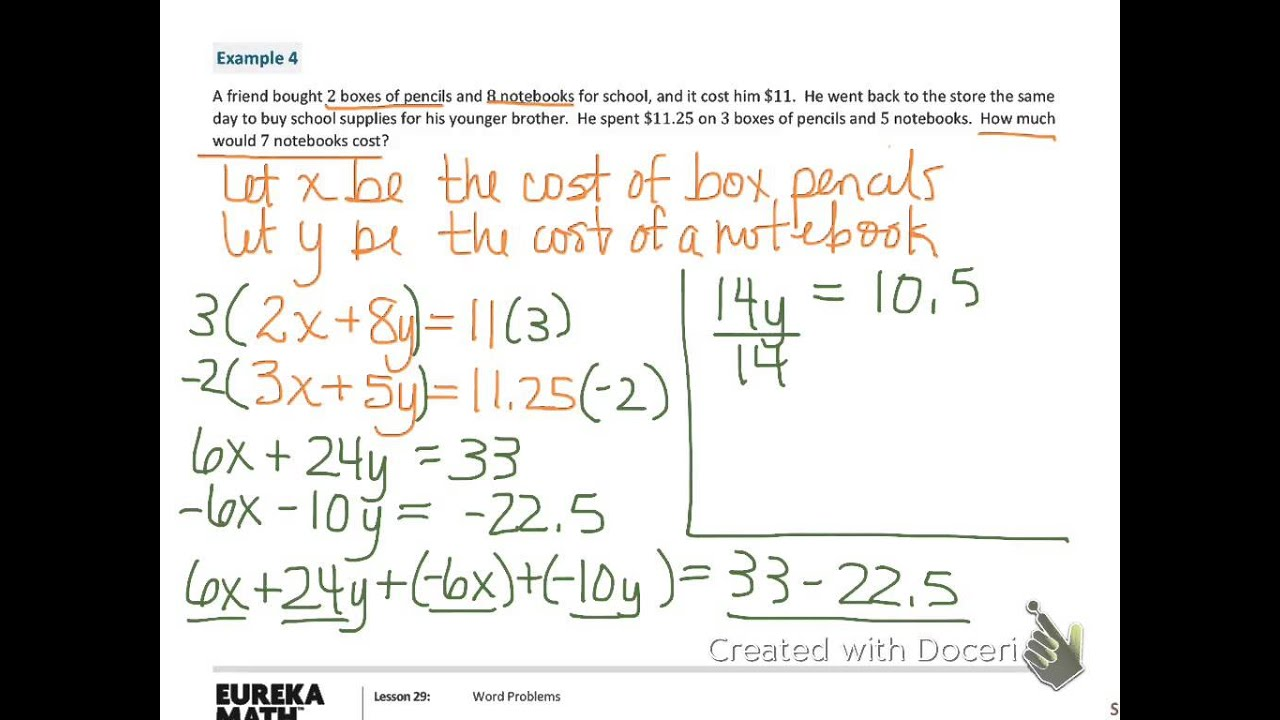 Grade 8 Algebra Word Problems (examples, solutions, videos)