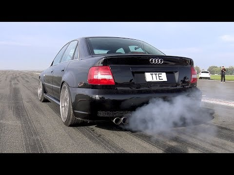 1100HP Audi S4 B5 Bi-Turbo - LOUD START & ACCELERATIONS!