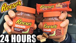 I ONLY ATE *REESE'S* FOR 24 HOURS ... Epic Candy Cheat Day Challenge