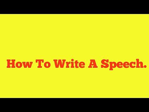 write my speech for me free