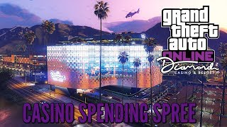 "Gta 5 online: ""Diamond Casino and Resort DLC"" Gameplay and Money Spree  (Gta Online Casino Update)"