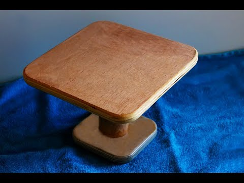 Wooden Cake Stand. Homemade Cake Stand made of wood and plywood