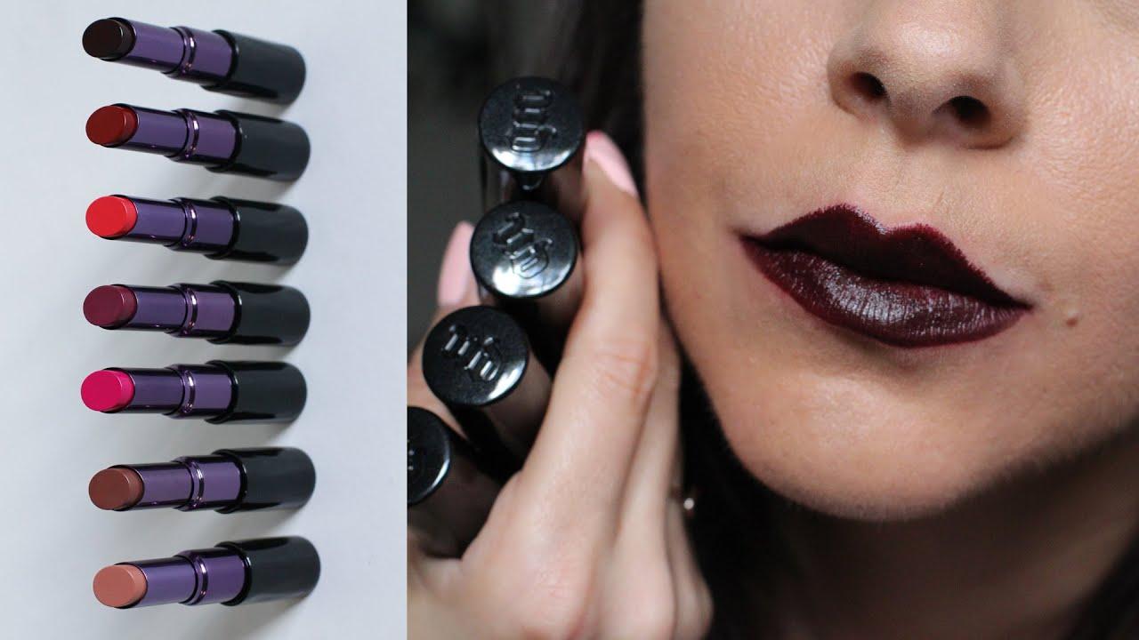 Urban Decay Matte Revolution Lipstick Lip Swatches