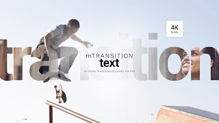 mTransition Text FCPX Plugin - Textual Transitions Exclusively For Final Cut Pro X - MotionVFX