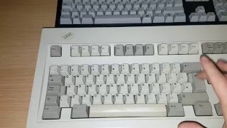 Ibm Model m and a unicomp space saver keyboard (Sound comparison)