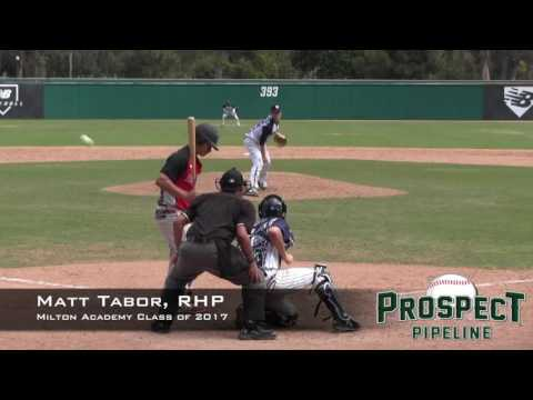Matt Tabor Prospect Video 2, RHP, Milton Academy Class of 2017