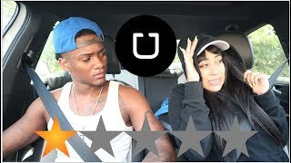 PICKED MY BOYFRIEND UP IN AN UBER UNDER DISGUISE *went terrible*