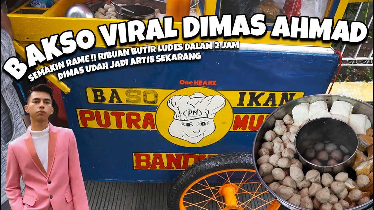 BAKSO IKAN DIMAS AHMAD SEMAKIN VIRAL DALAM 2 JAM LANGSUNG LUDES !!