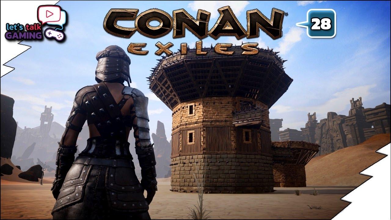Conan Exiles New Gatehouse Tower Design Idea E28 Youtube