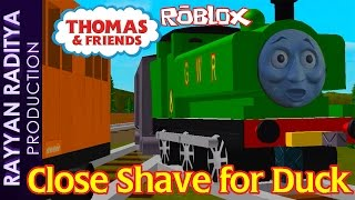 Thomas & Friends | Close Shave for Duck | Accidents Will Happen Roblox Remake