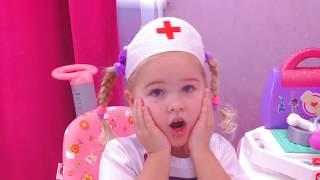ДОКТОР ПЛЮШЕВА Играем в доктора Ветеринара лечим котика Клиника Видео для детей