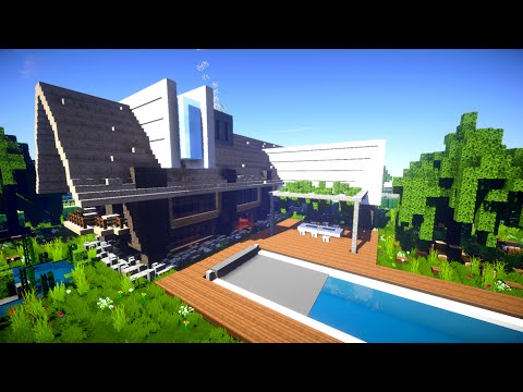 maison de campagne moderne minecraft youtube. Black Bedroom Furniture Sets. Home Design Ideas