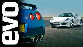 Tiff Needell evo track battle: Nissan GT-R vs Porsche 911 Carrera S