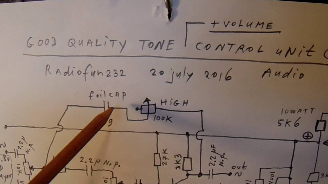 Good Quality Audio Pre Amp With Volume Bass High Loudness Control Circuit Diagram Of Jrc4558 Schematic Youtube