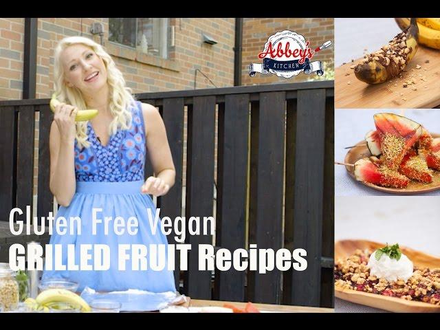 Gluten Free Vegan Grilled Fruit Desserts on the BBQ | Banana Boats, Watermelon Pops, Berry Crisp