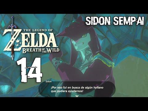 Zelda Breath of the Wild p14 El Principe Sidon Sempai, El Rey Zora, Mipha y sus Problemas
