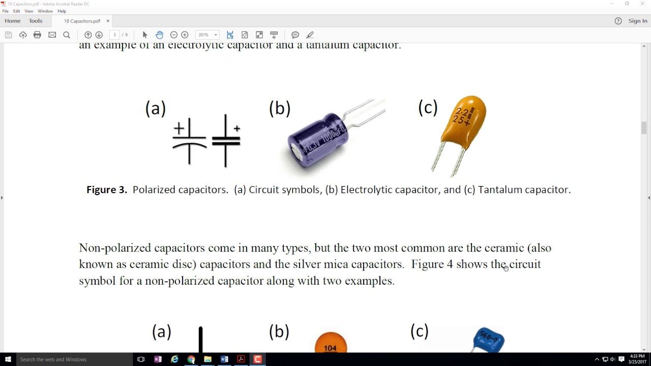 Ece 100 Types Of Capacitors Lesson Youtube