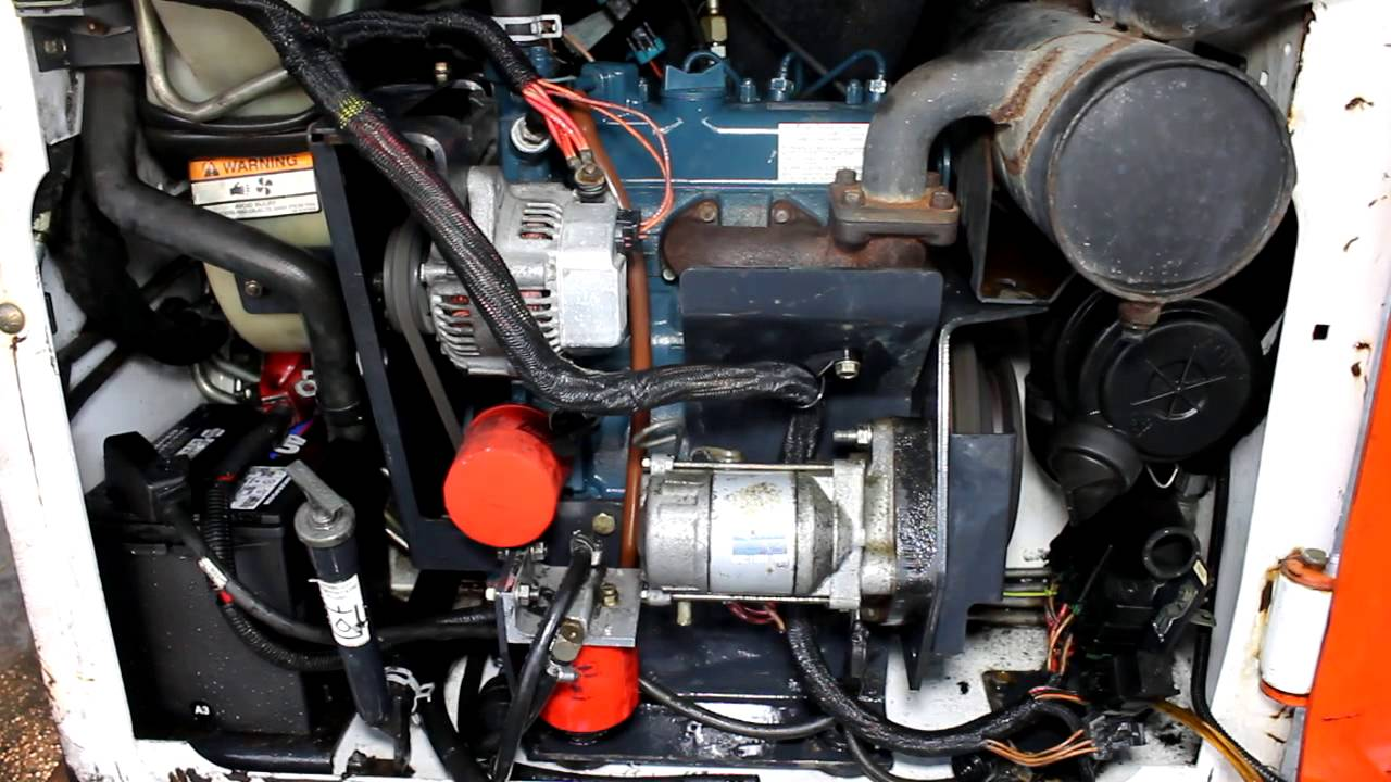 Bobcat 463 Kubota D722 Engine 002 Youtube