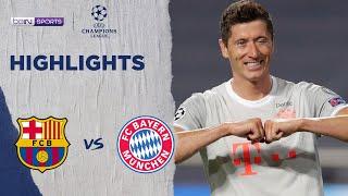 巴塞隆拿 2-8 拜仁慕尼黑 | Champions League 19/20 Match Highlights HK