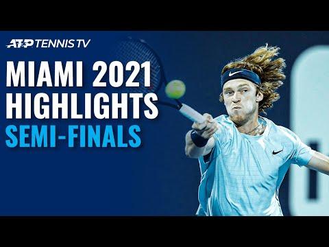 Sinner and Bautista Agut Rematch; Hurkacz and Rublev Clash | Miami 2021 Semi-Final Highlights