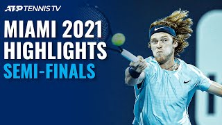 Sinner and Bautista Agut Rematch; Hurkacz and Rublev Clash | Miami 2021 Semi-Final Highlights