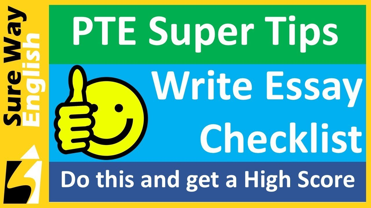 Persuasive Essay Samples For High School Pte Tips Write Essay Check List For A High Score High School Essay Topics also Process Essay Thesis Pte Tips Write Essay Check List For A High Score  Youtube Essay On English Teacher