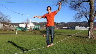 Slackline-Tutorial: How to Wąlk a Longline