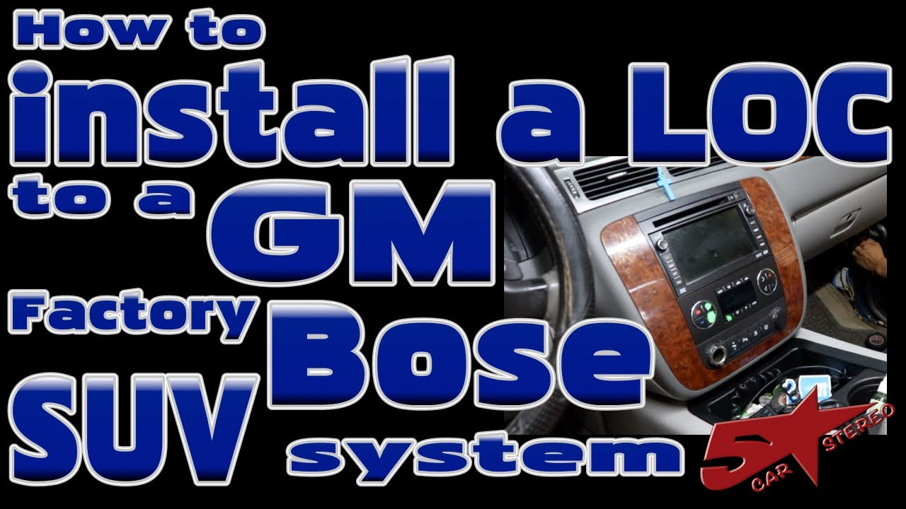 How To Connect A High Low Level Adapter In Gm Full Size Suv Wiring Gauge With Bose System