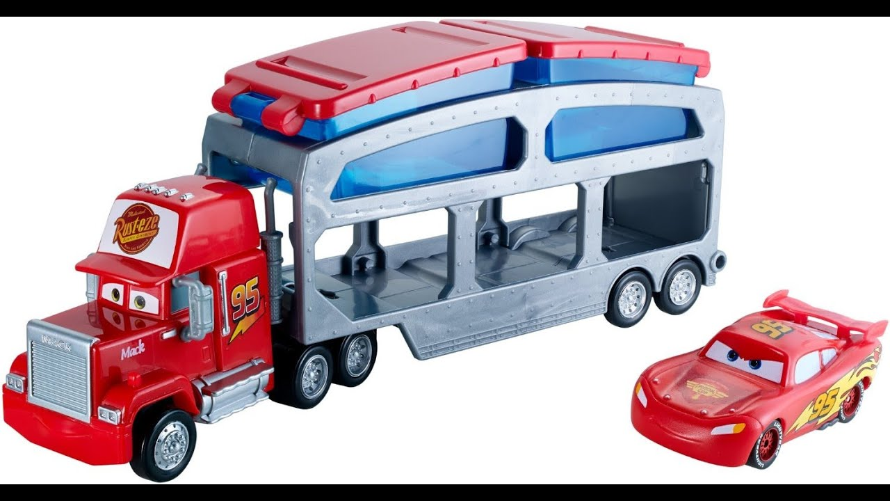 Cars Color Change Mack Dip & Dunk Trailer Truck Lightning McQueen ...