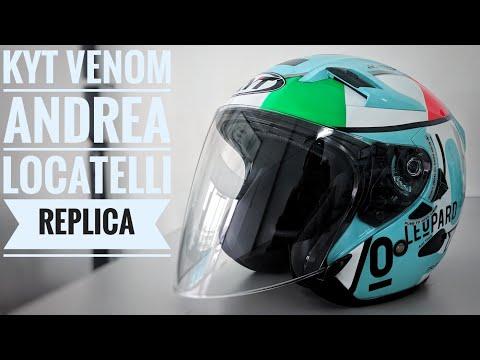 Unboxing Helmet KYT Venom Andrea Locatelli Replica Openface