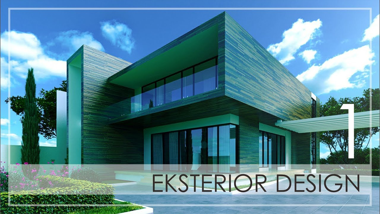 3ds max exterior design tutorial part 1 3ds max modeling youtube