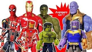 - Marvel Avengers Infinity War Minimates Thanos Iron Man, Spider Man, Hulk Toys Play