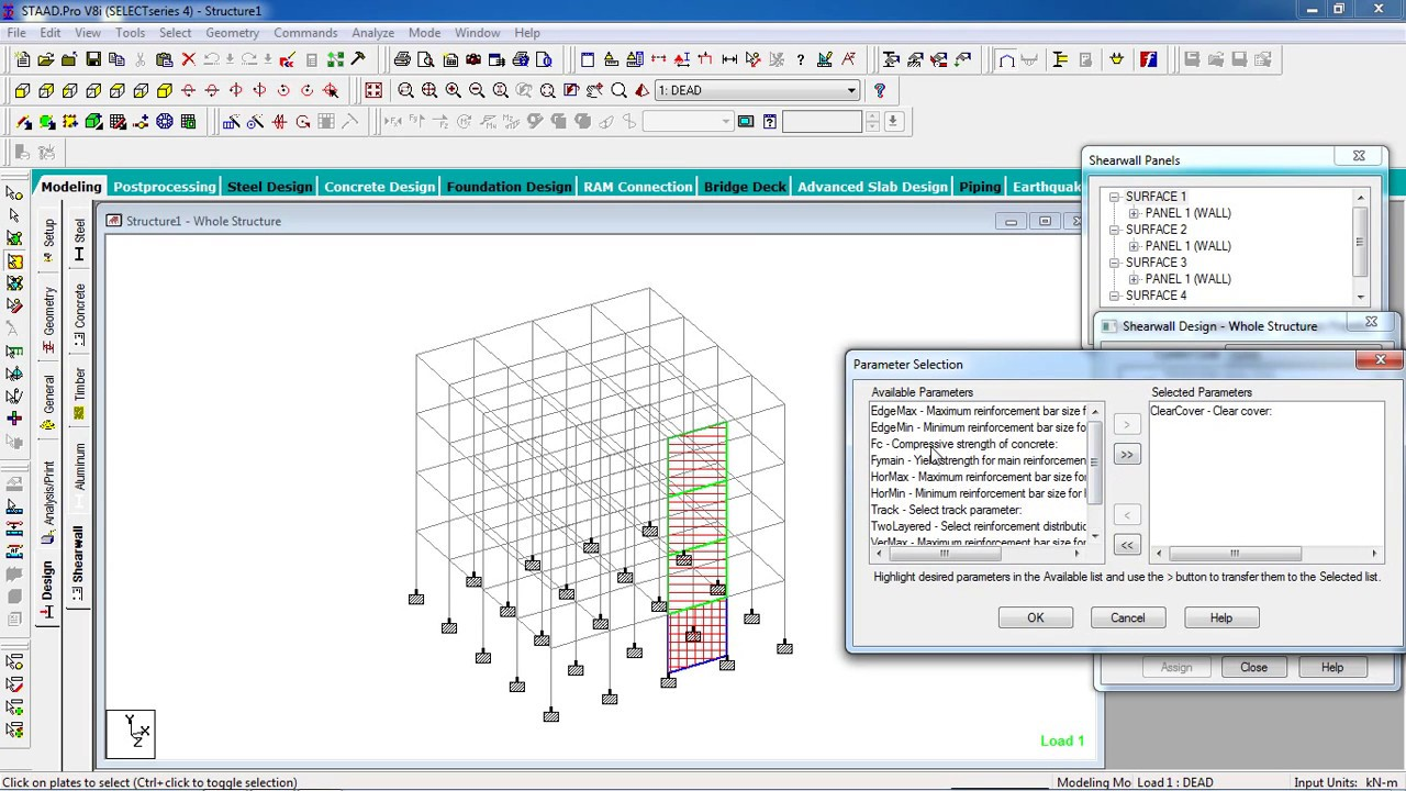 STAAD Pro Tutorials Analysis Design of RCC Shear Wall Day 22
