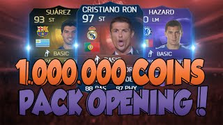 100 000 abos best of 1 000 000 coins pack opening fifa 15 1 million coins pack opening facecam