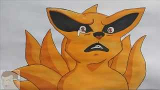 HOW TO DRAW CHIBI KYUUBI BABY NINE TAILS KURAMA STEP BY STEP FULL COLOR