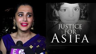 Taapsee Pannu Gets Emotional On Asifa Bano | Kathua Case