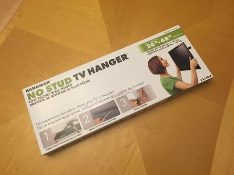 No Stud Tv Hanger Mount By Hangman Unboxing Install Video Youtube