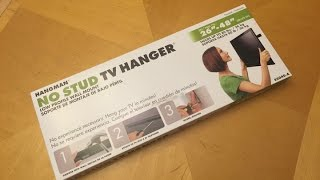 No Stud TV Hanger Mount by Hangman : UNBOXING & INSTALL VIDEO