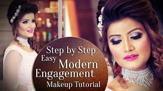 Step by Step Engagement Makeup Tutorial 2017 | Modern Engagement Look | Krushh By Konica