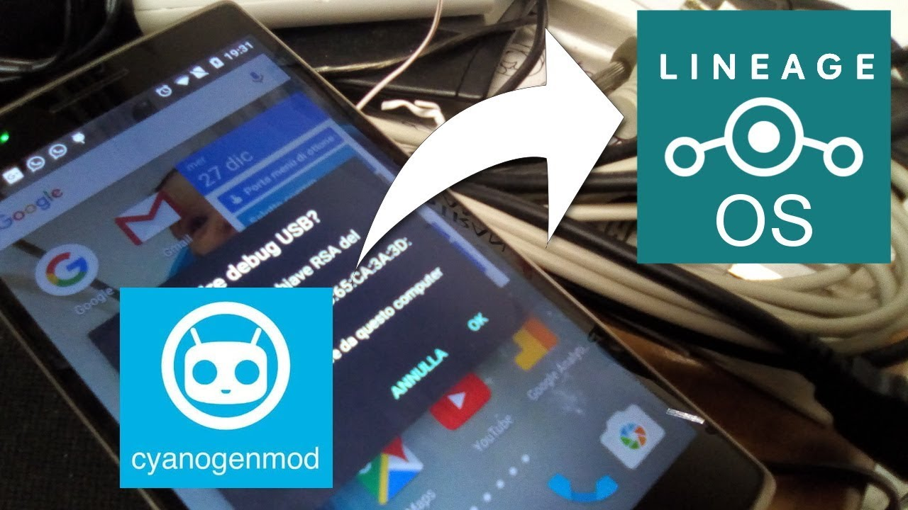installazione lineage custom rom os su one plus one opo bacon android
