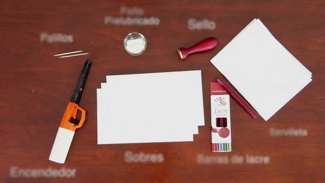 Como lacrar un sobre con encendedor youtube - Como decorar un sobre ...