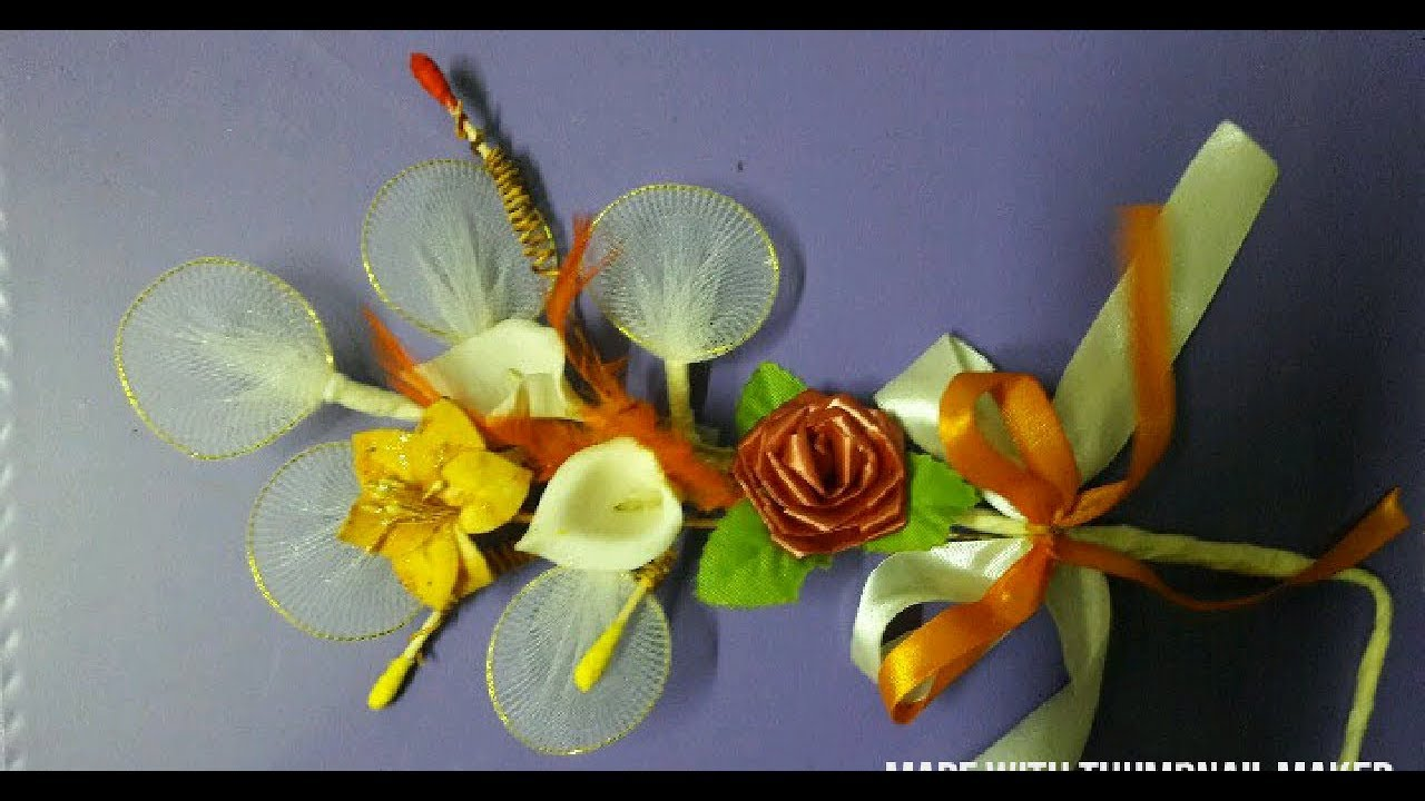 how to make handmade flower bouquet at home - YouTube