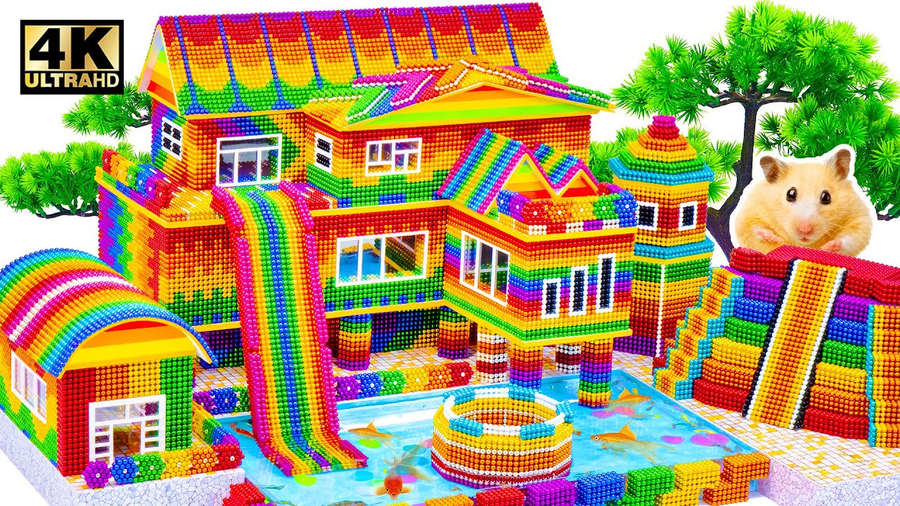 Build Creatively Colors Mud House, Groundwater Well & Water Slide