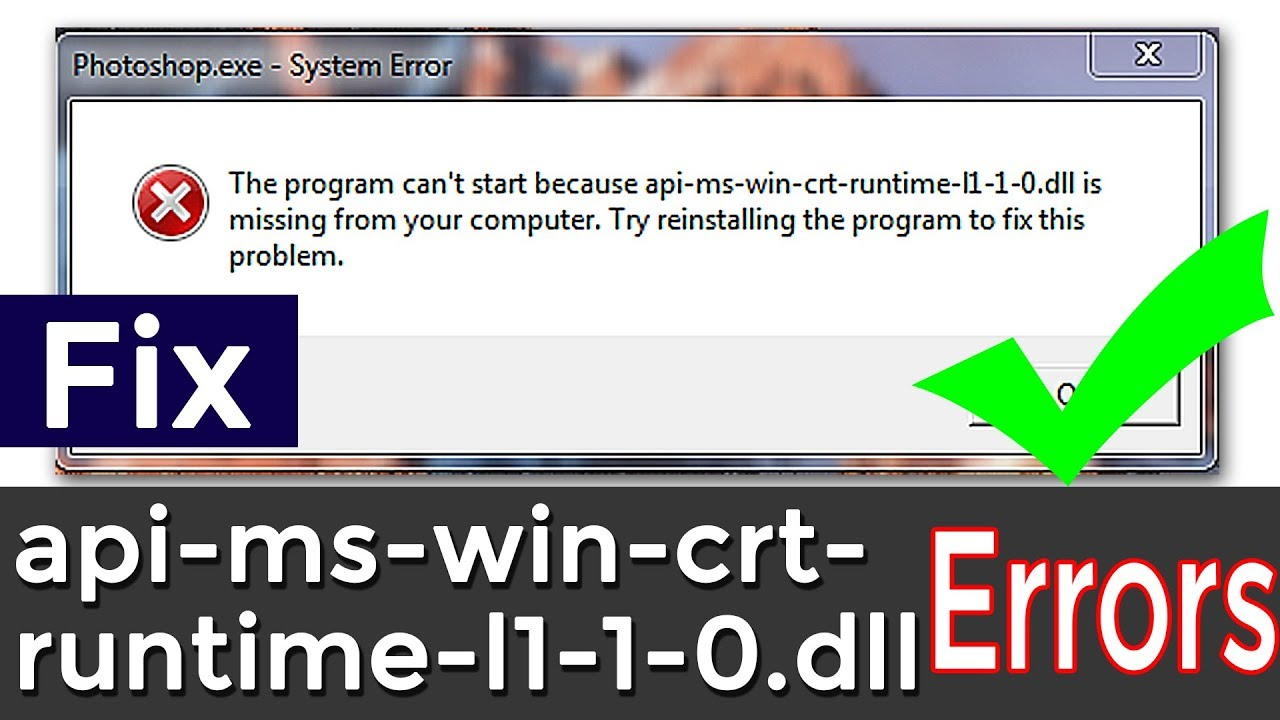 How to Fix api-ms-win-crt-runtime-l1-1-0.dll || How to install api-ms-win-crt-runtime || method #1