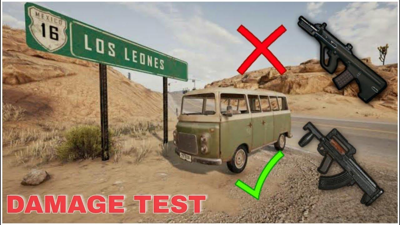 Aug And Groza Gun Damage Test Pubg Mobile Pubg Updates