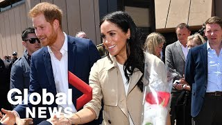Thousands welcome Prince Harry and Duchess of Sussex Meghan at Sydney