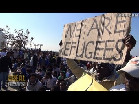 African Refugees in Israel On Historic Strike