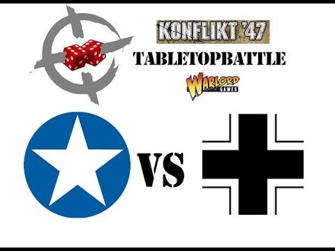 Konflikt '47 battle report #4 - 1946: Western Europe. US vs GER 925pts