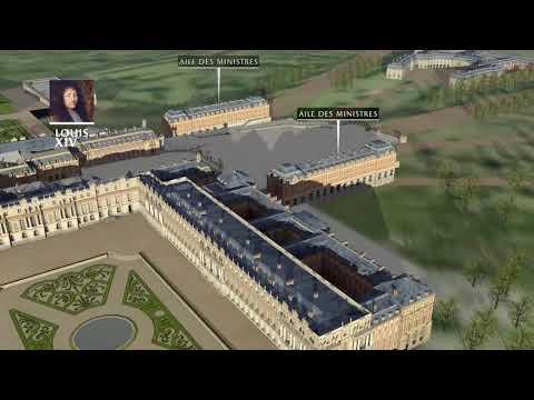 Reconstitution 3D construction du château de Versailles jusqu'à la révolution française